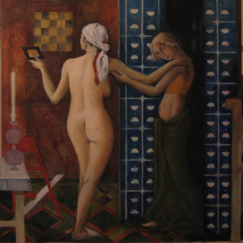 Die Begegnung, Eitempera auf Leinwand, 2006, Detail