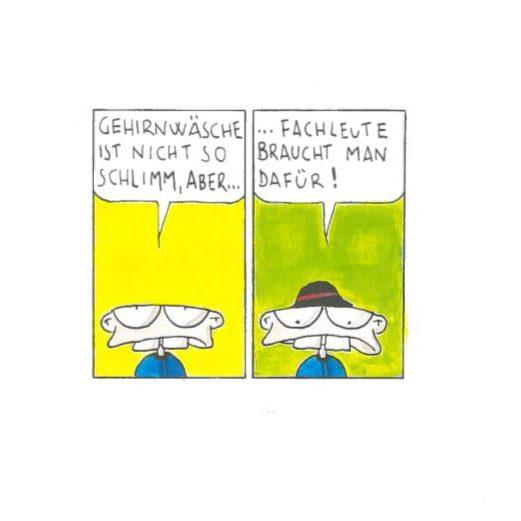Smautfs Gehirnwäsche, Comic, Guache auf Papier, 1999